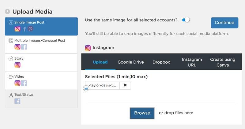 Upload Post - Sked Social