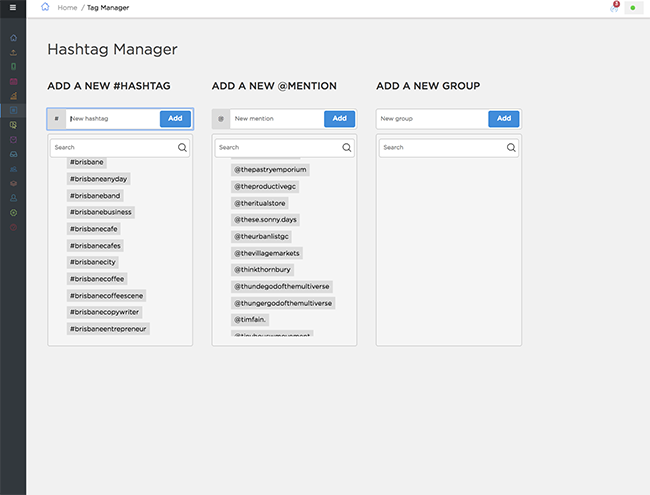 Instagram Management Tool for Agencies - Hashtag Manager - Sked Social