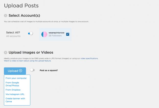 Instagram Scheduling App - Sked Social Uploading