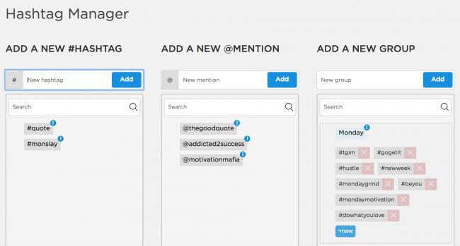Hashtag Manager - Instagram Scheduling App - Sked Social