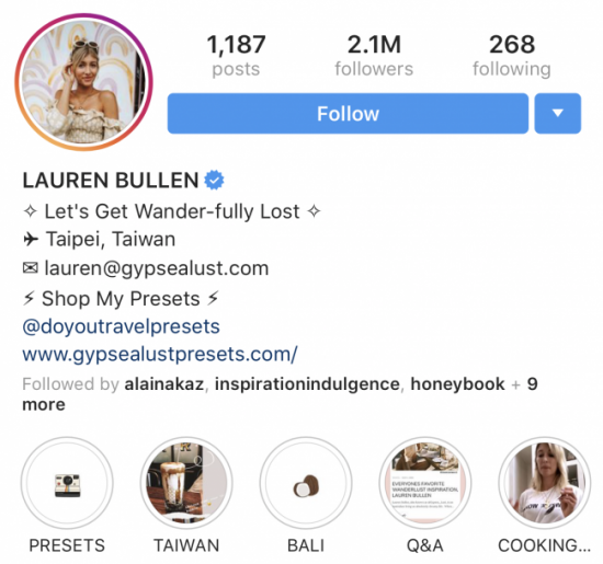 Instagram-micro-influencer-lauren-bullen-example