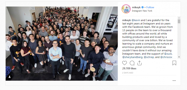 Instagram News- Mike Statement