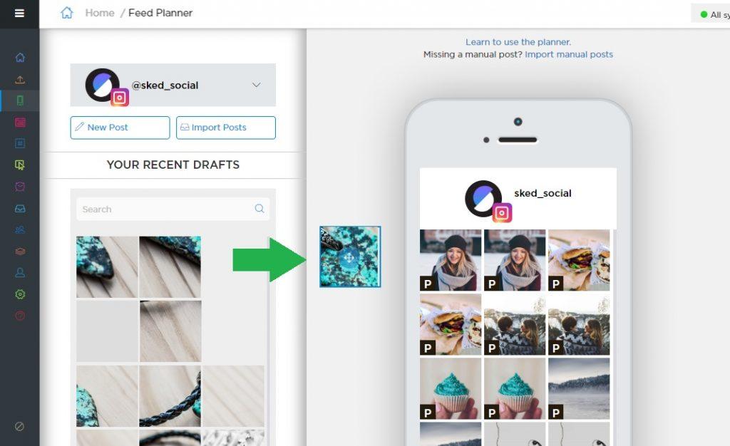 Instagram Algorithm & Visual Planner - Sked Social