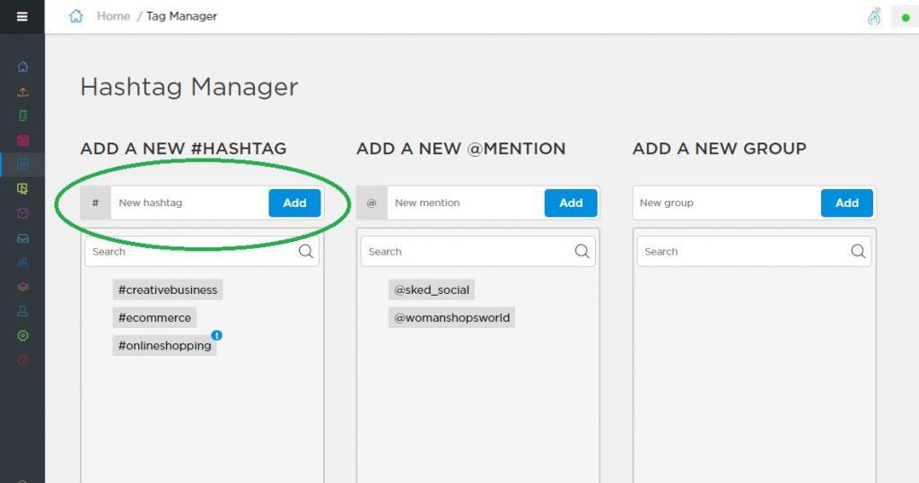 Instagram Engagement - Hashtag Manager - Sked Social