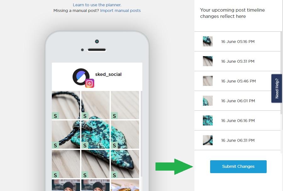 Instagram Grid Planner - Sked Social