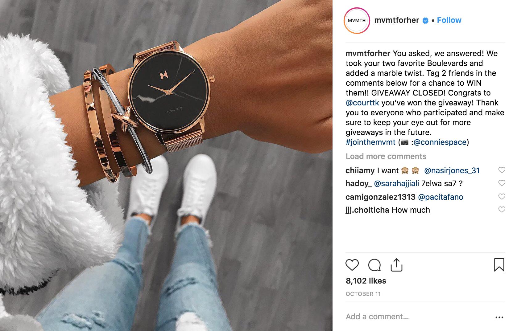 Best Instagram Campaigns 2018 - MVMT - Sked Social