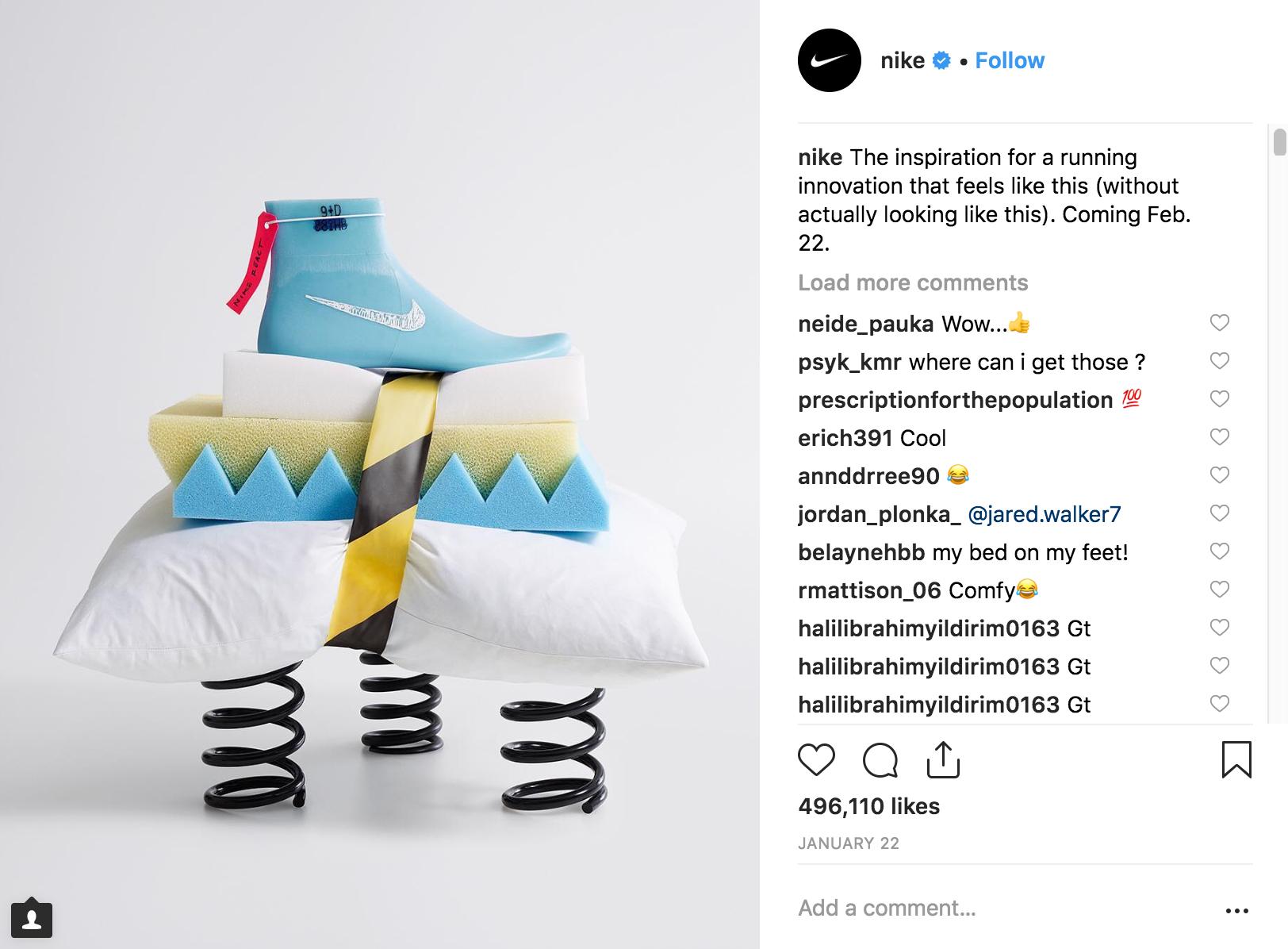 Best Instagram Campaigns 2018 - Nike - Sked Social
