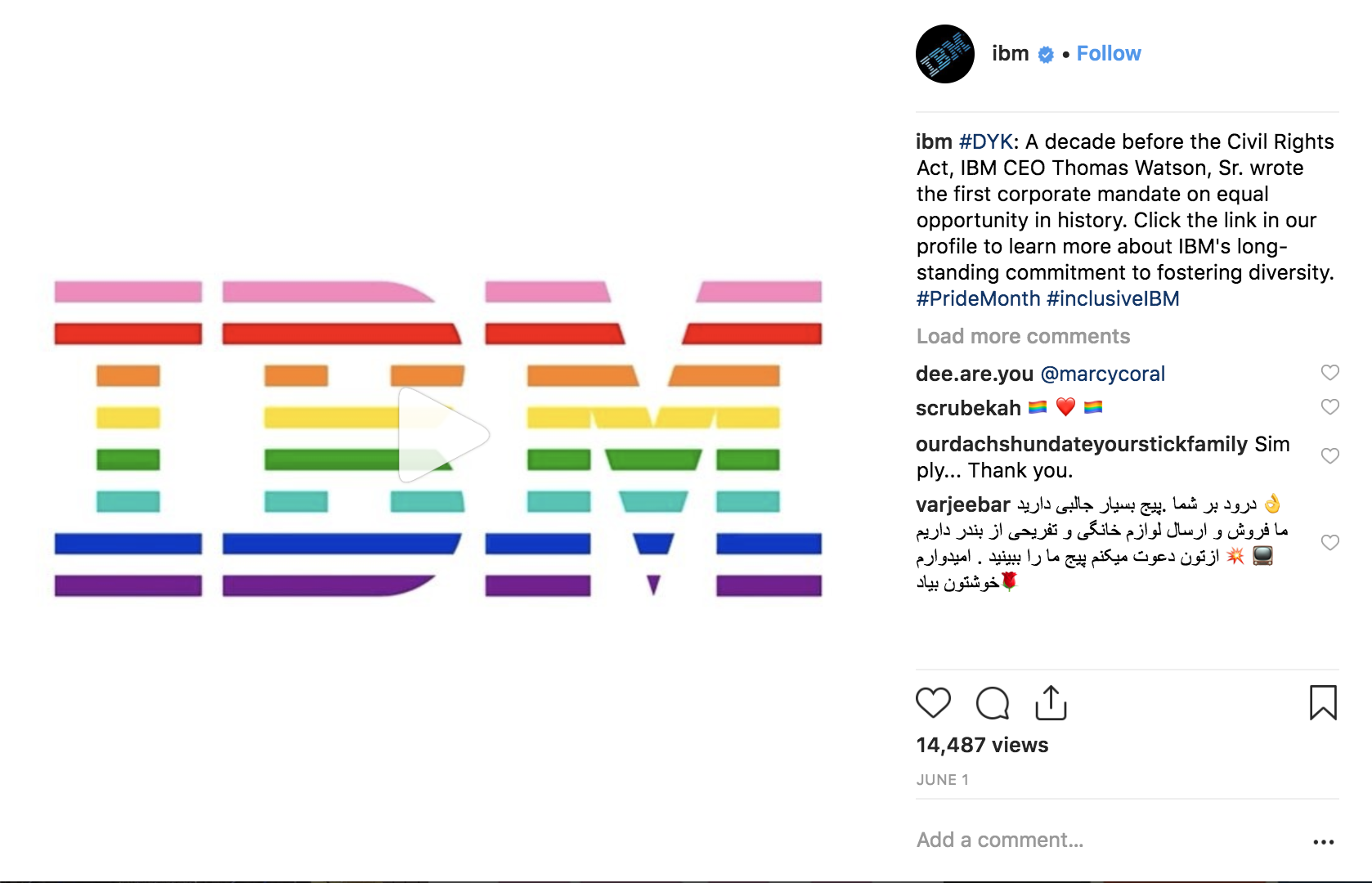Best Instagram Campaigns 2018 - IBM - Sked Social
