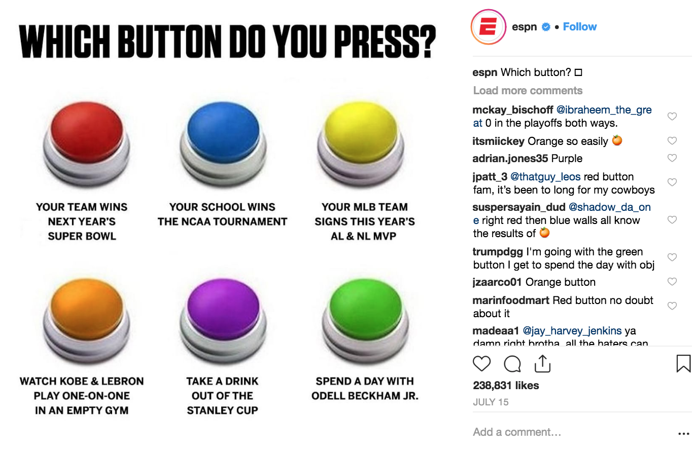 Best Instagram Campaigns 2018 - ESPN - Sked Social