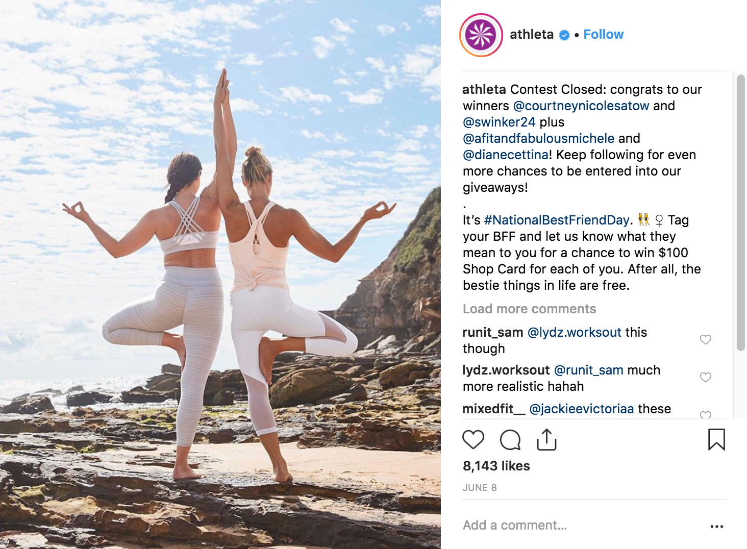 Best Instagram Campaigns 2018 - Athleta - Sked Social