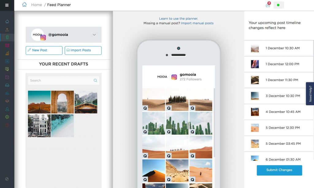Visual Instagram Planner