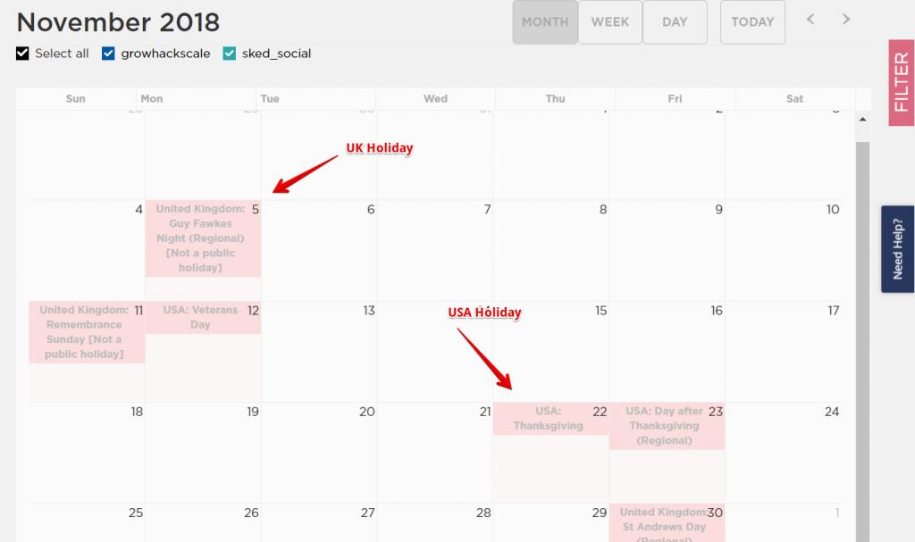 Social Media Calendar with Sked Social