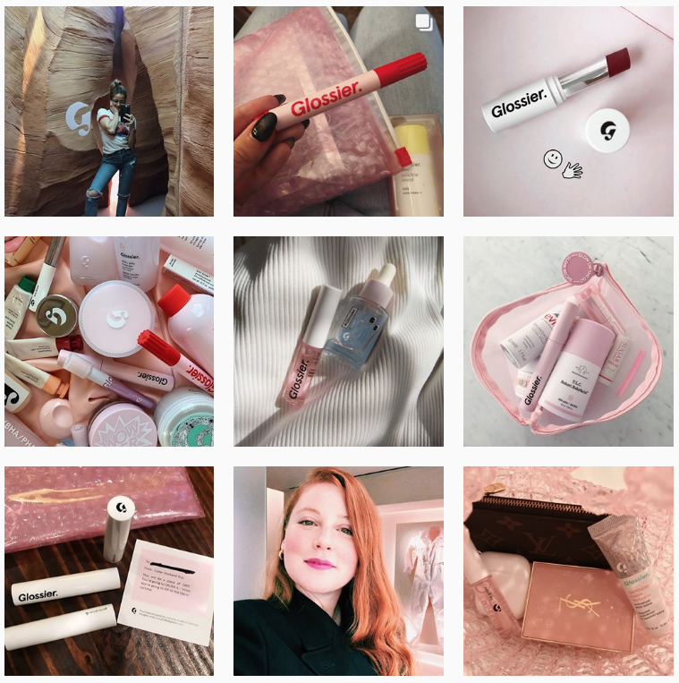 Glossier Marketing - Sked Social