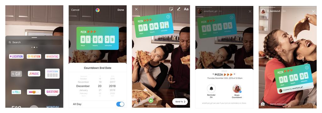 Instagram Updates Countdown Sticker - Sked Social