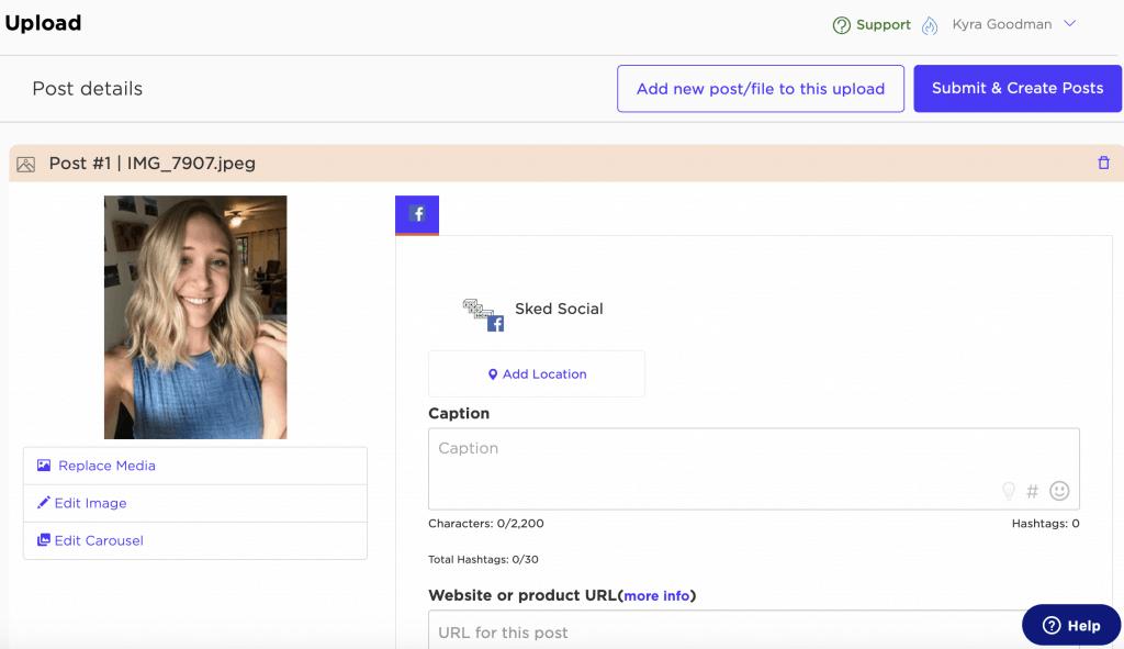 post details screen