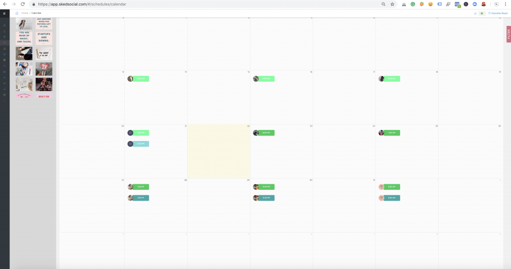 Sked Social Instagram Calendar View