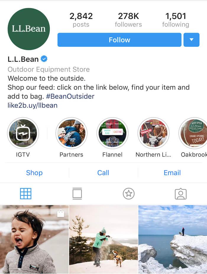 LLBean - Instagram Hashtags - Sked Social