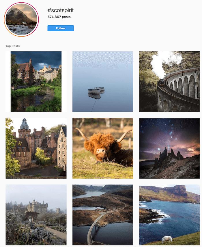 Travel Brands on Instagram - Scot Spirit - Sked Social