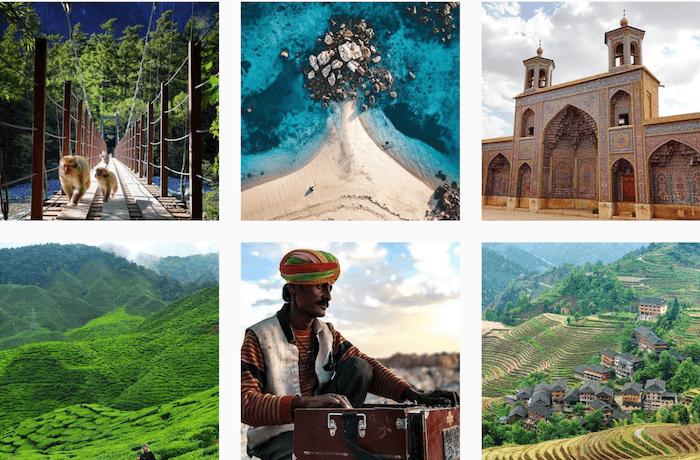 Travel brands on Instagram - World Nomads - Sked Social