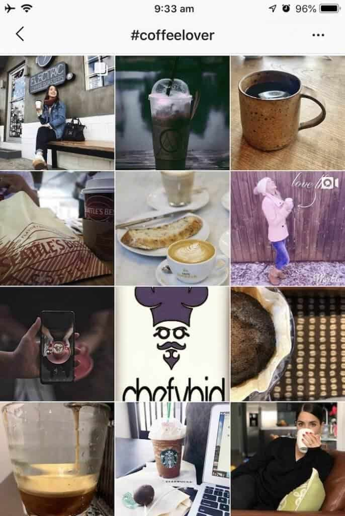 Feed results for hashtag coffee lover