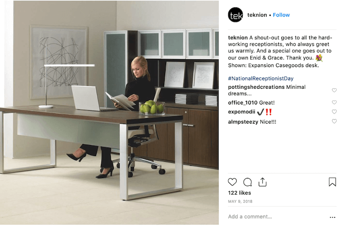 May Social Media Holiday Campaign Ideas - National Receptionist Day - Sked Social