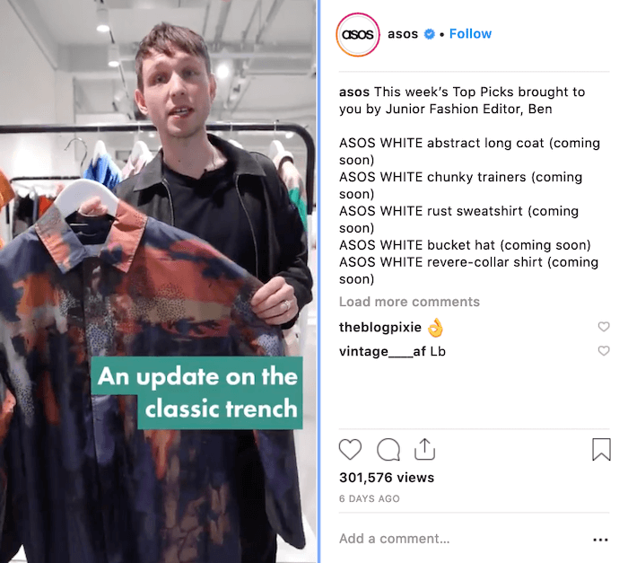 Fashion Brands on Instagram - ASOS - Sked Social
