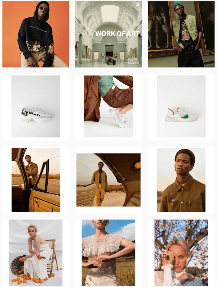 Fashion brands on Instagram - Zara - Sked Social