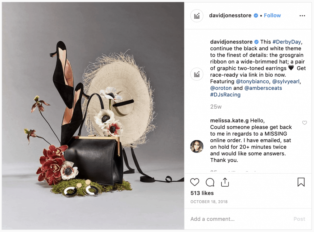 Fashion brands on Instagram- David Jones - Sked Social