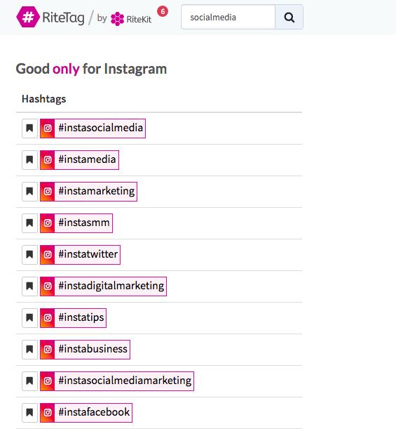 Ritetag hashtag tool