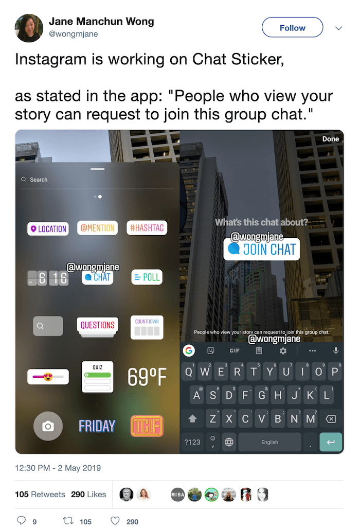 Instagram Chat Sticker - Instagram News - Sked Social