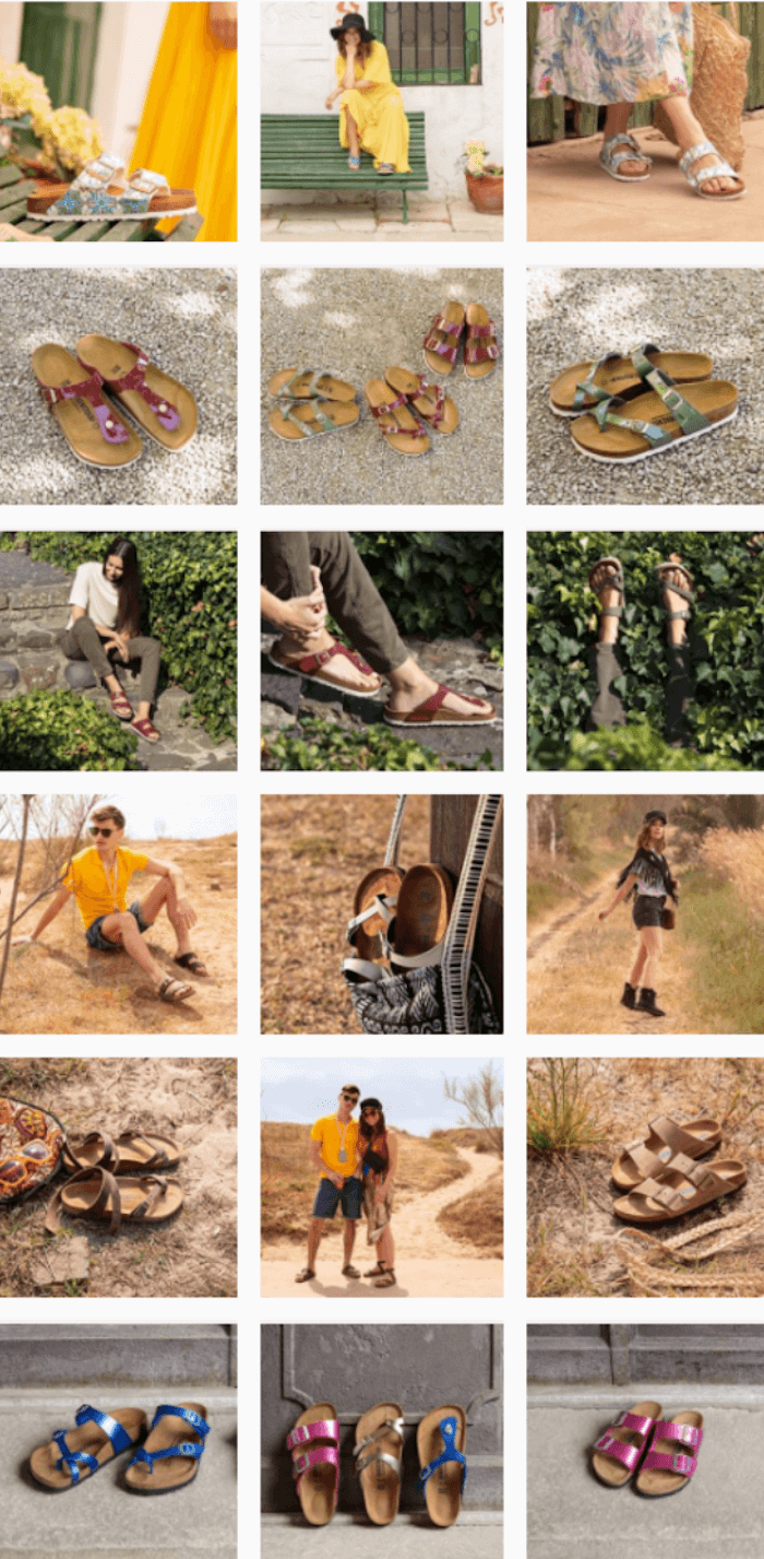 Theme example from Birkenstocks