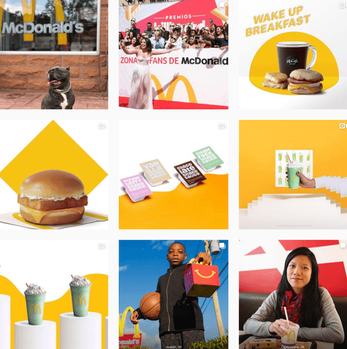 Theme example from McDonalds