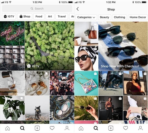 Instagram Stories Explore Tab