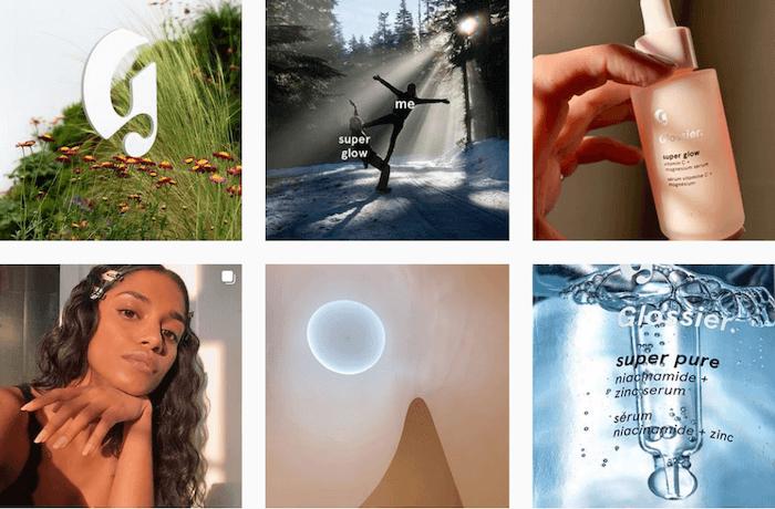 Aspirational Instagram Brands - Sked Social - Glossier
