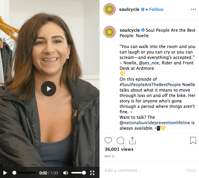 IGTV Content Ideas - Soul Cycle - Sked Social