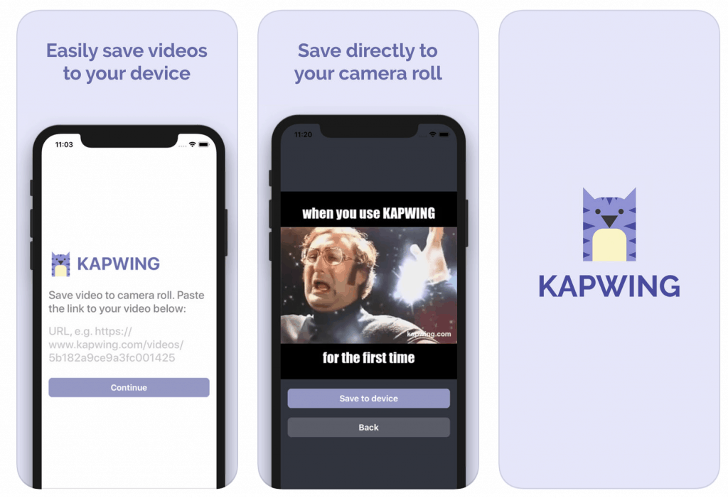 Using Kapwing to create 'gram backgrounds.