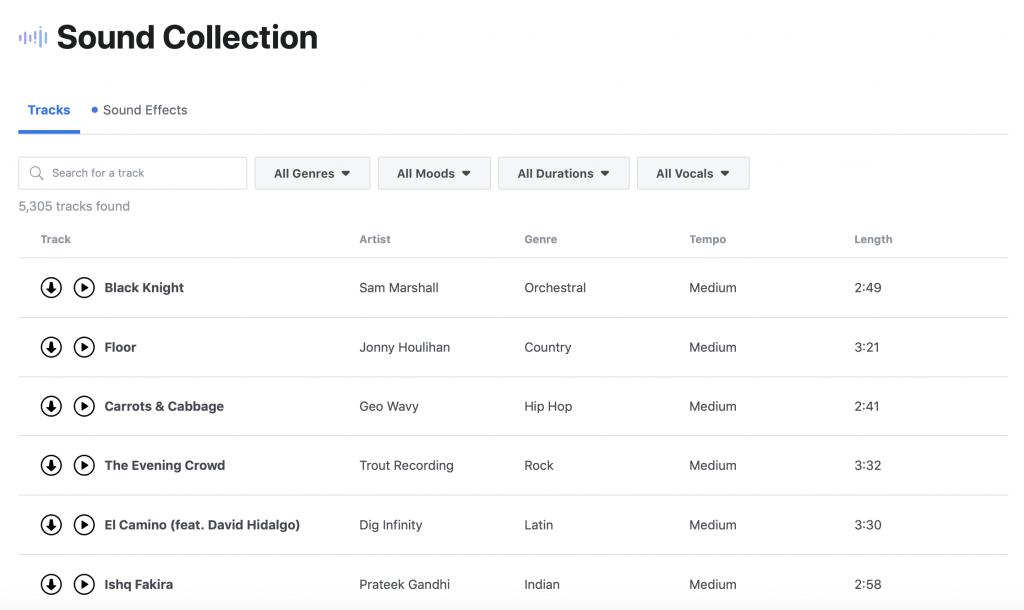 Creator Studio sound collection