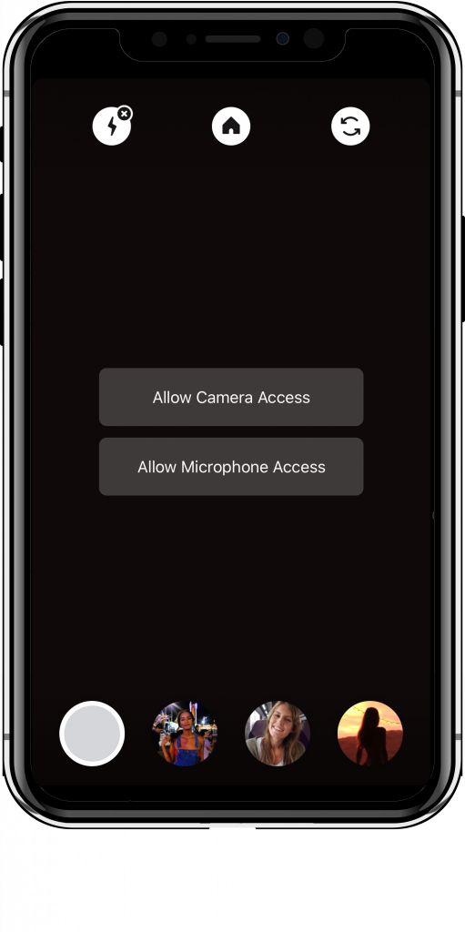 Threads allow camera and microphone access.