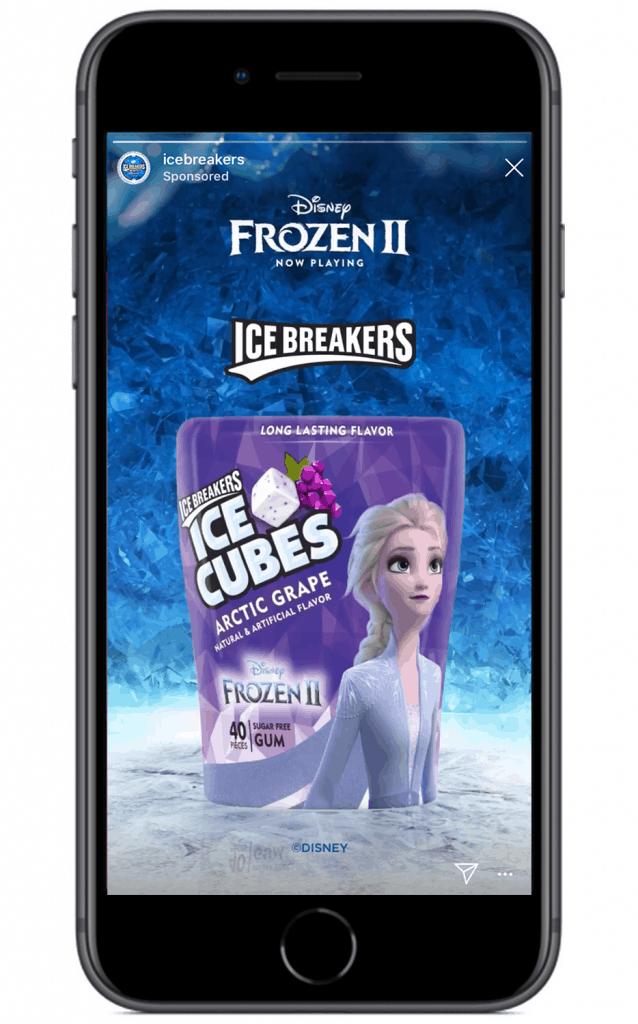 Ice Breakers Instagram Story ad