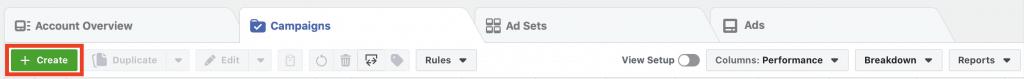 Campaign create dashboard