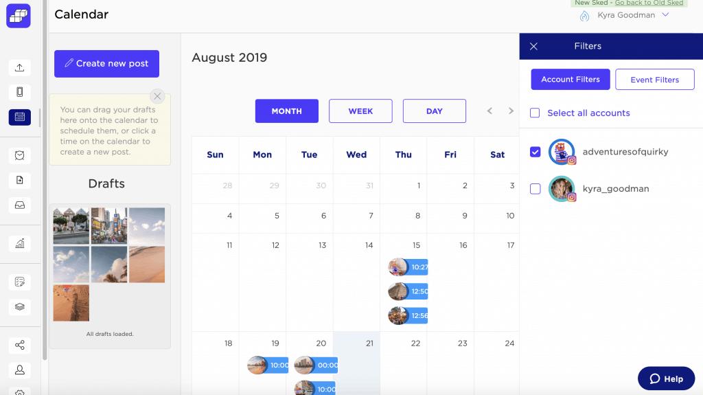 sked social calendar