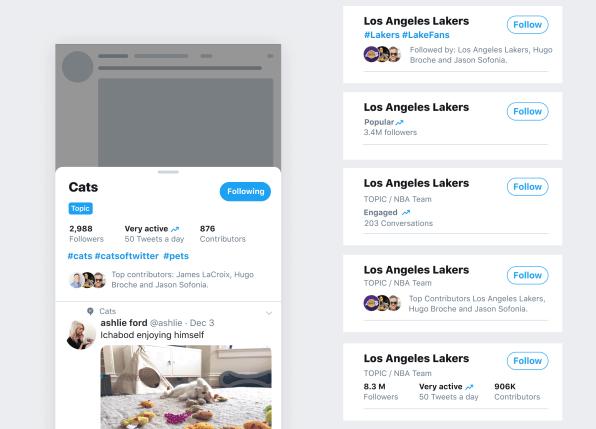 Twitter Topic design draft