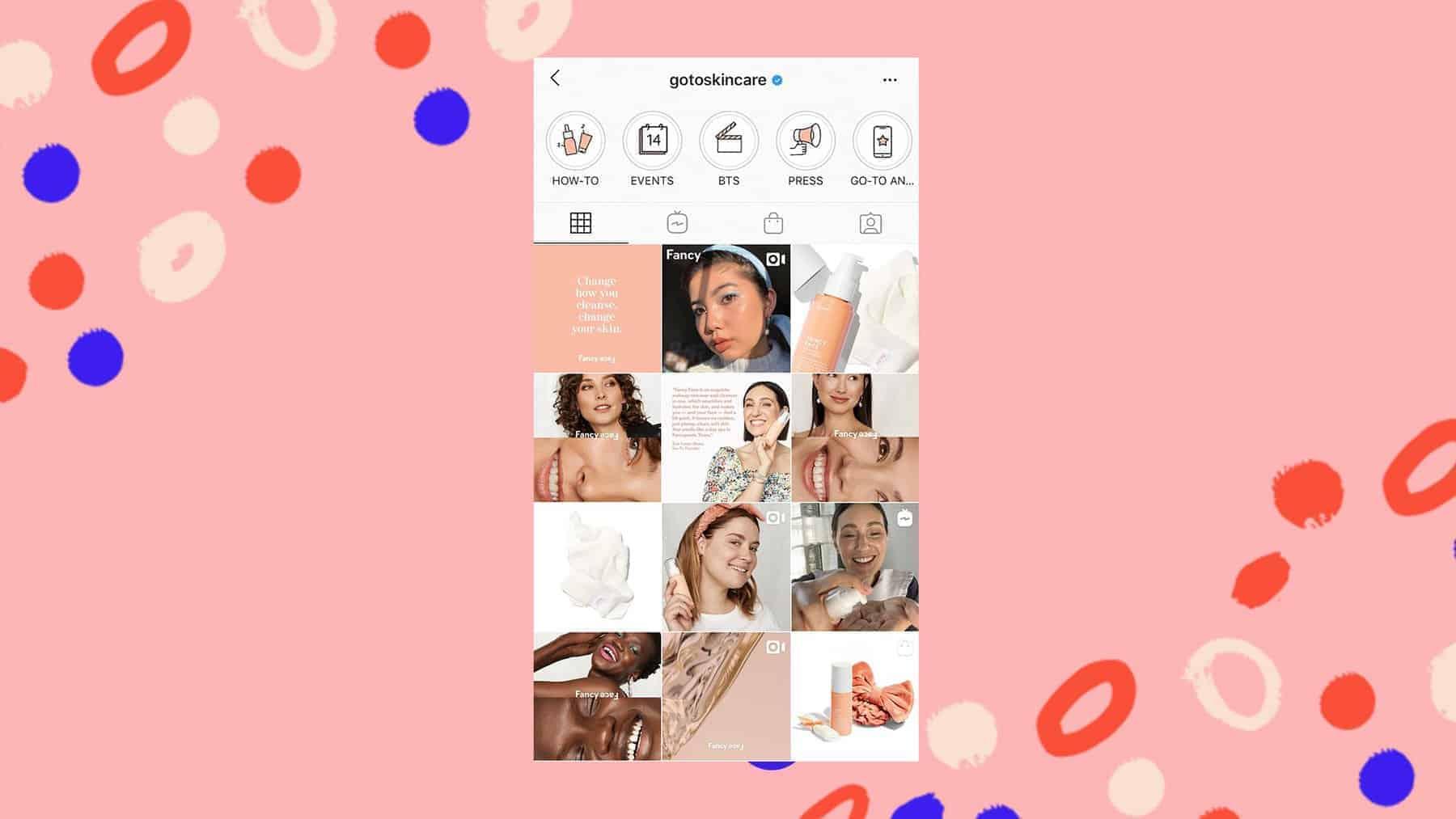 Go To Skincare Instagram grid