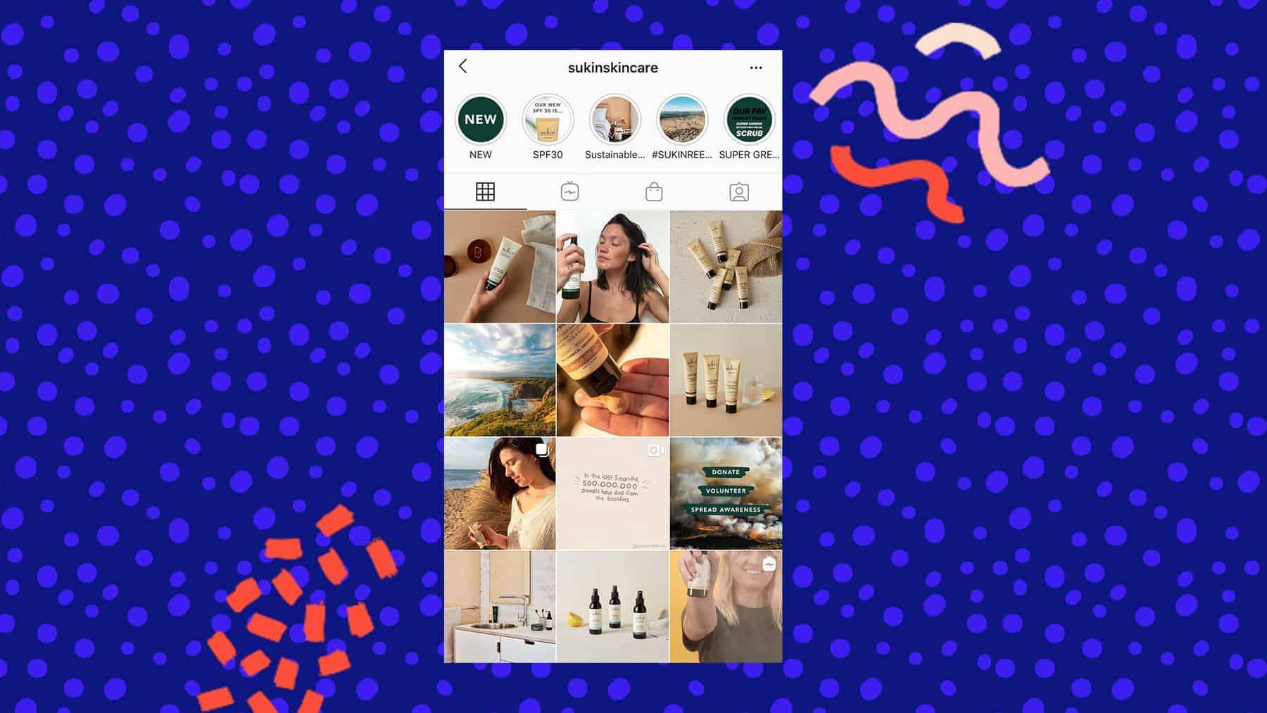 Sukin Skincare Instagram grid