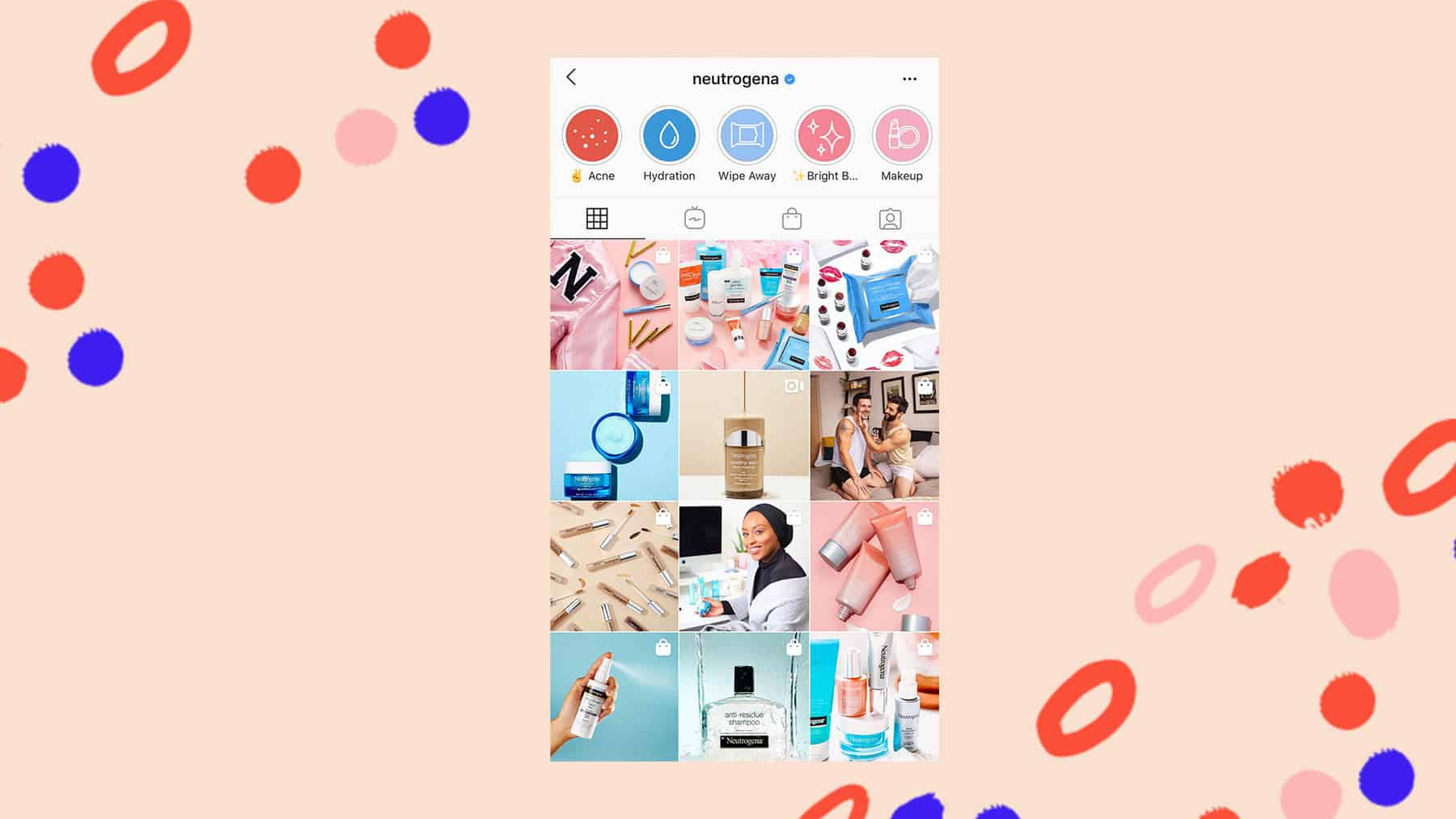 Neutrogena Instagram grid