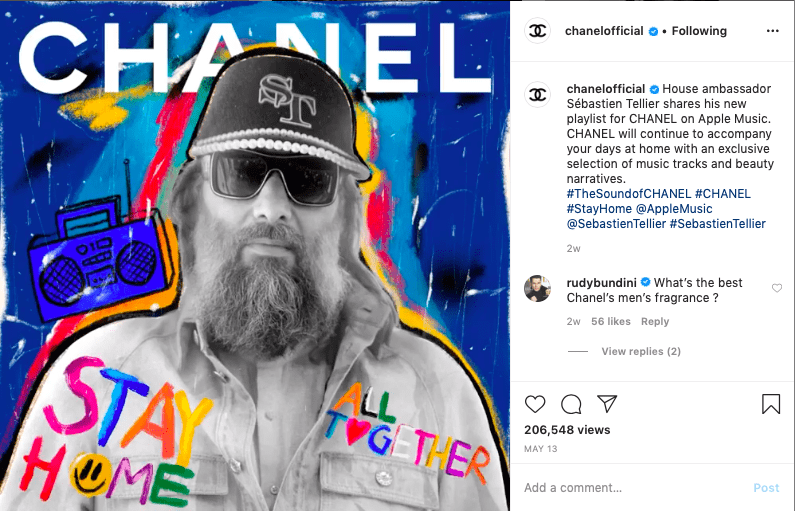 Image showing an Instagram post relating to a recent event.