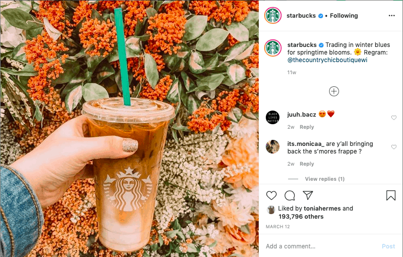 Another Instagram content idea featuring user-generated content.