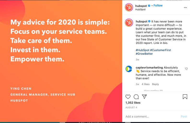 Team quote example.