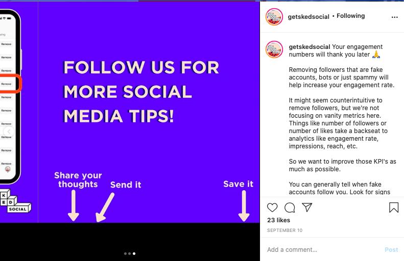 Instagram engagement tips.