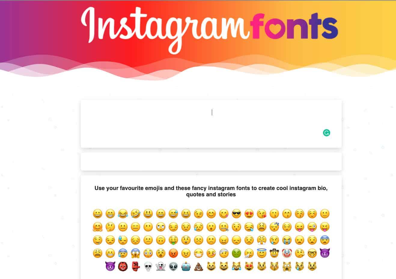 Instagram fonts generator example 4.